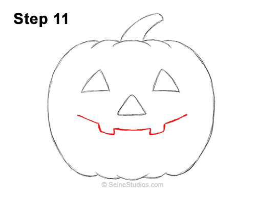 Halloween Pumpkin Drawing Picture.How To Draw A Halloween Pumpkin Jack O Lantern